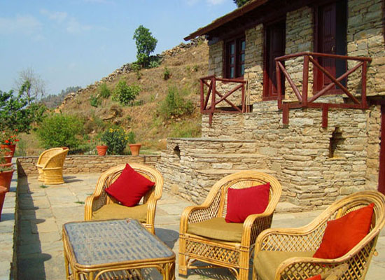 Sitting at Itmenaan Estate Almora