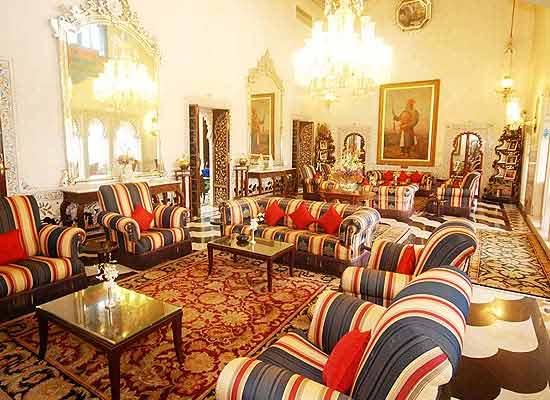 Sitting at Shiv Niwas Palace