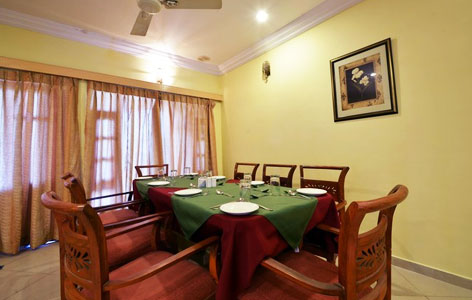 Dining Area at Palanpur Palace Hotel Mount Abu