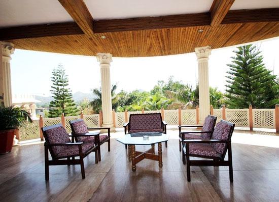 Sitting Area at Palanpur Palace Hotel Mount Abu