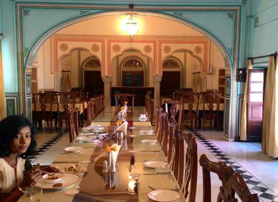 Dining Area at Patan Mahal Sikar, Rajasthan