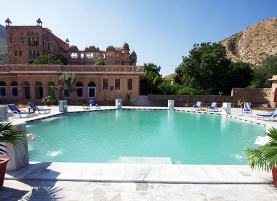 Swimming Pool at Patan Mahal Sikar, Rajasthan