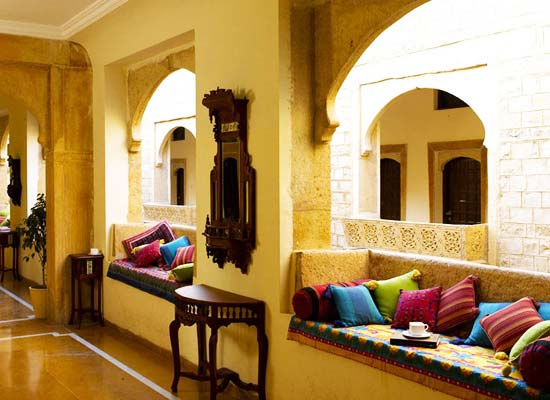 Narayan Niwas Palace jaisalmer sitting area