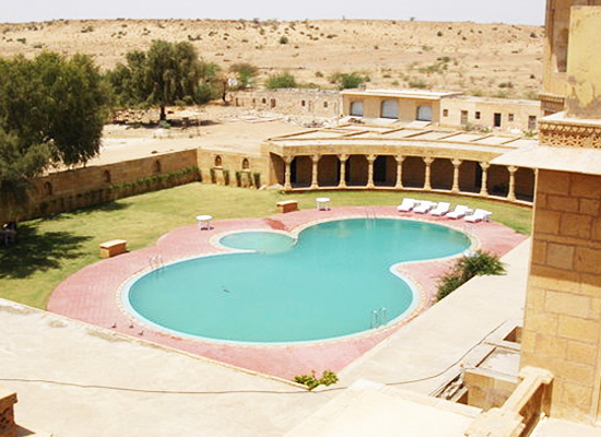 Jawahar Niwas Palace Jaisalmer Swimming Pool Area
