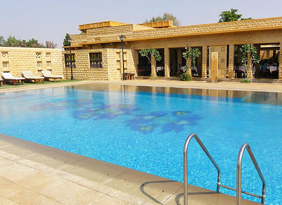 Hotel Rawalkot jaisalmer pool view