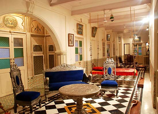 Mandir Palace jaisalmer sitting area