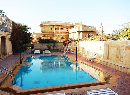 Mandir Palace jaisalmer pool side