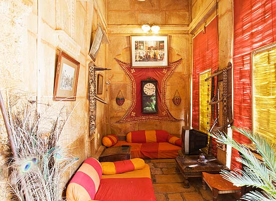 Nachana Haveli Jaisalmer sitting area