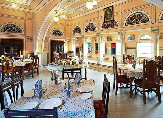 Dining at Rajmahal Palace Hotel