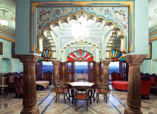 Interior of Rajmahal Palace Hotel