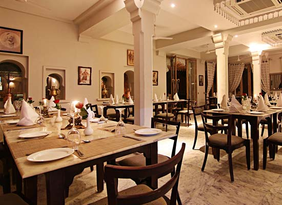 restaurant at Rawla Narlai Pali, Rajasthan