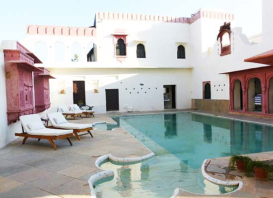 Swimming Pool area at Rawla Jojawar Pali, Rajasthan