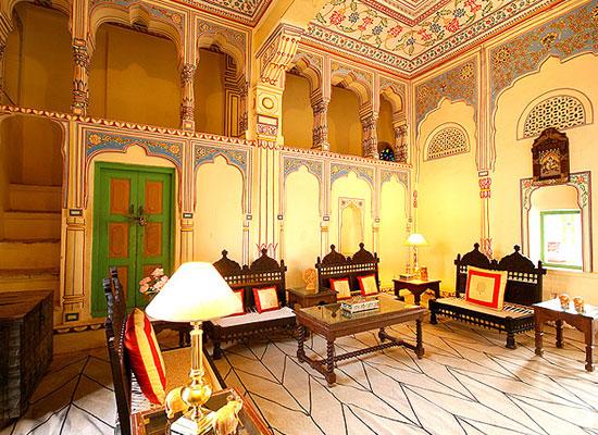 Indra Vilas Mahal Jhunjhunu Sitting Area